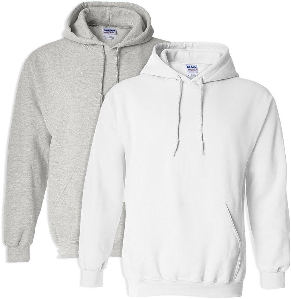 1 Charcoal Gildan G18500 Heavy Blend Adult Unisex Hooded Sweatshirt XL 1 Royal