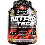MuscleTech NitroTech Protein Powder, 100% Whey Protein with Whey Isolate, Lucky Marshmallow, 4 Pound