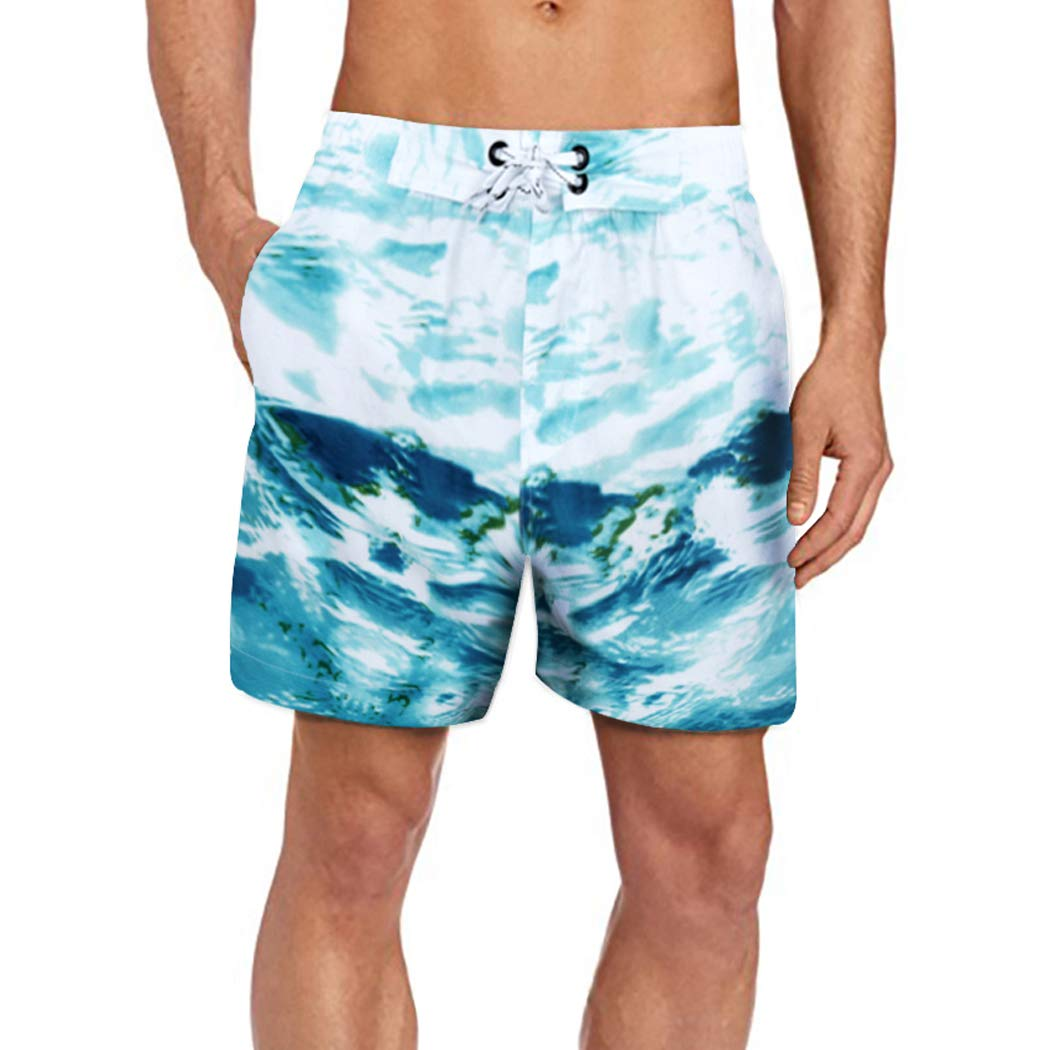 4e9ba29d9c ELETOP Men's Swim Trunks Quick Dry Board Shorts Above Knee with ...
