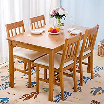 mango wood dining table sets rustic set wooden 6 chairs dinning dinette person pine kitchen natural