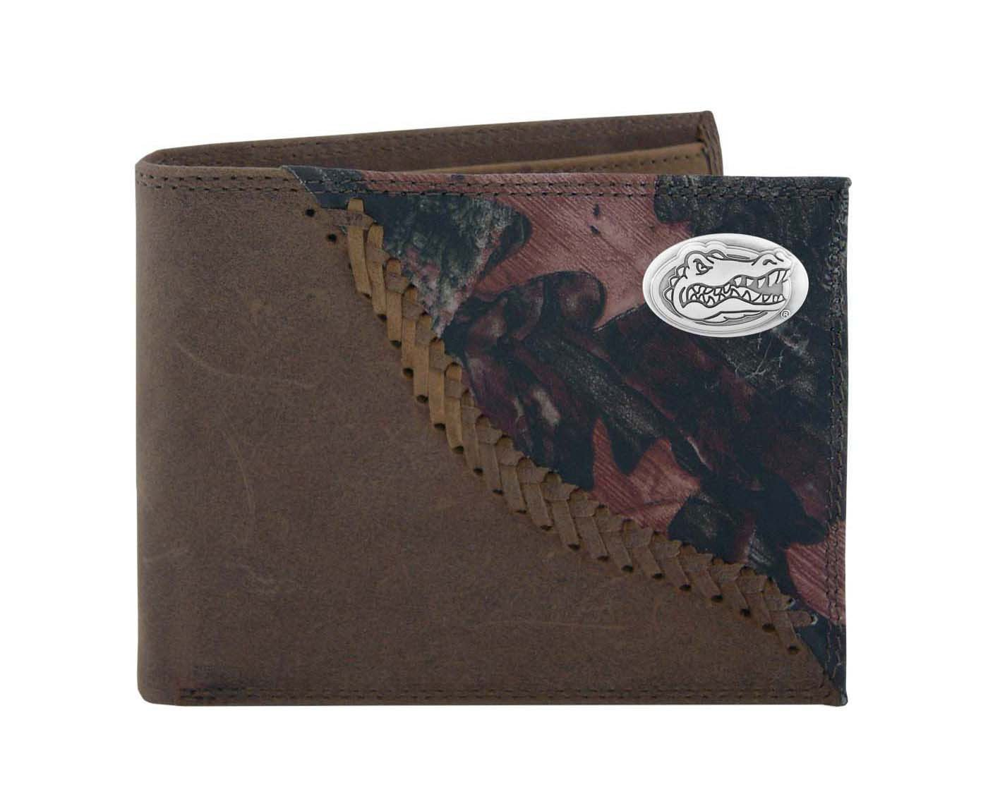 NCAA Florida Gators Camouflage Leather Bifold Concho Wallet, One Size Zeppelin Products Inc. UFL-IWT1-FNC