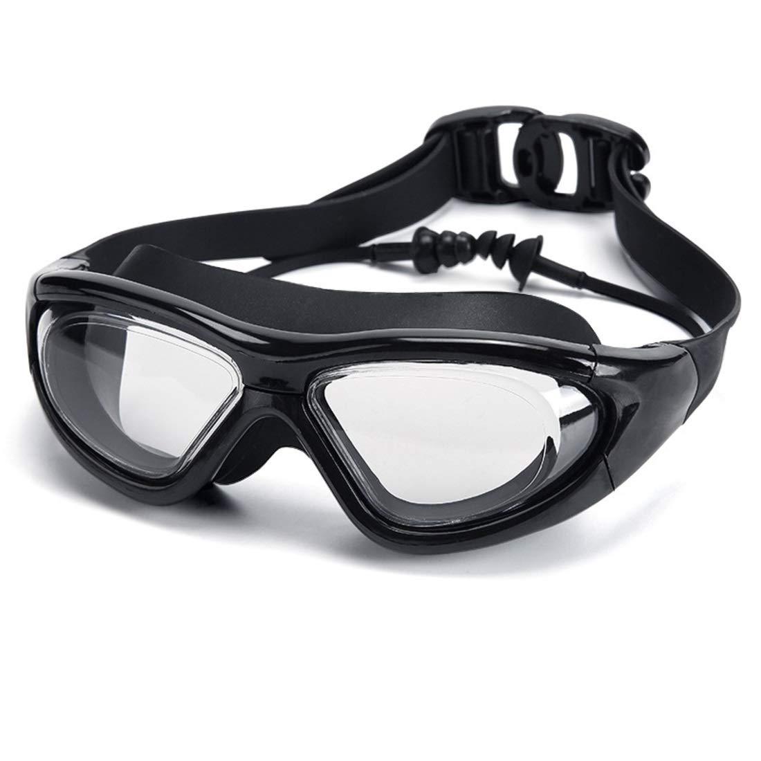 Gafas de nataci/ón con Tapones para los o/ídos para Hombres Mujeres. Uzanesx Gafas de Gran tama/ño HD Impermeables y antiniebla Color : Blue