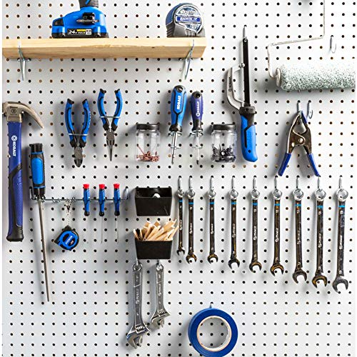 Pegboard Hooks Assortment with Pegboard Bins, Peg Locks, for Organizing Tools, 80 Piece by FRIMOONY (Image #6)