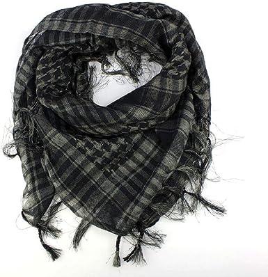 Fashion Women Men Arab Keffiyeh Palestine Scarf Wrap Black /& White