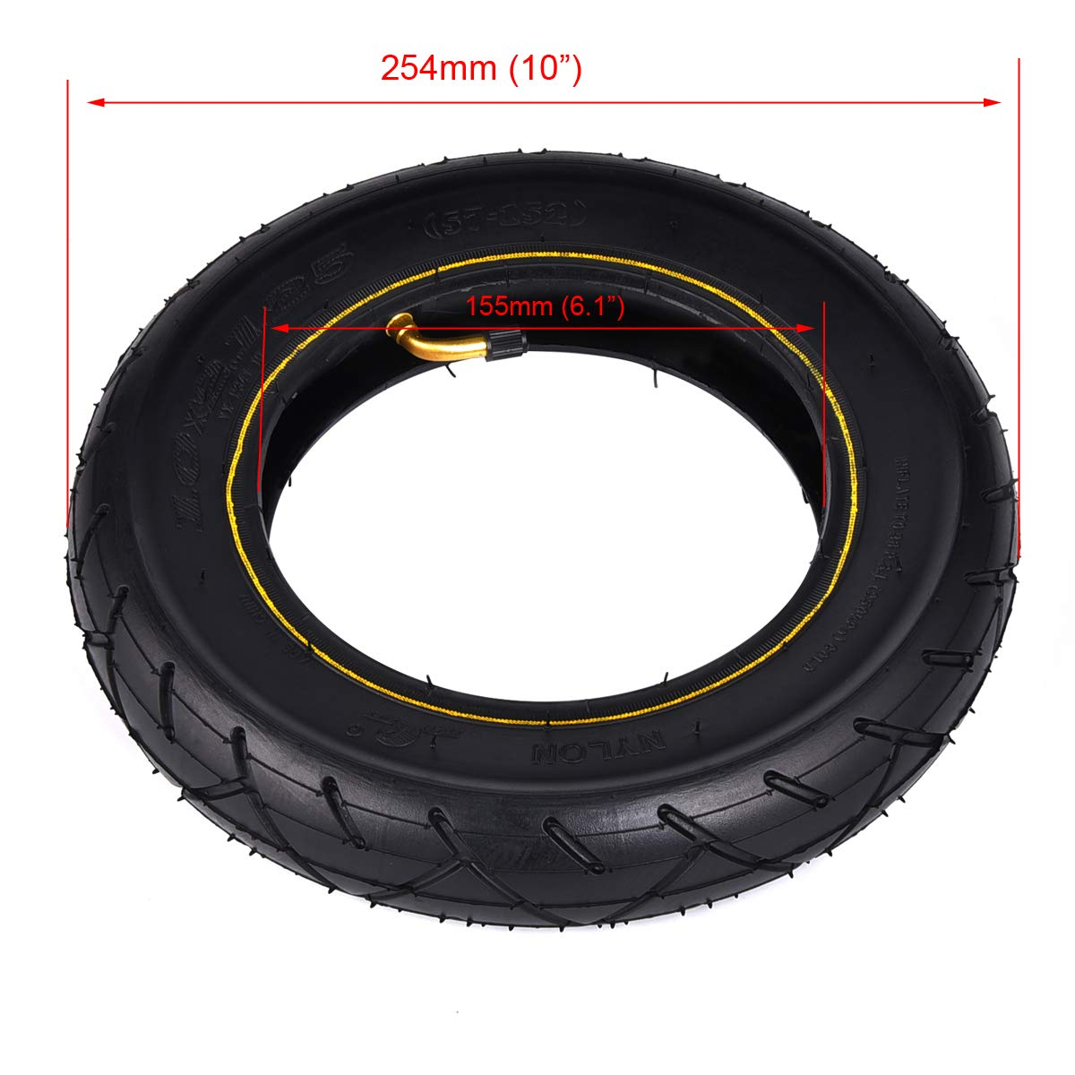 Wingsmoto 10 10 x 2.125 Tyre Tire /& Tube for Smart Self Balancing Scooter 10 Inch Unicycle