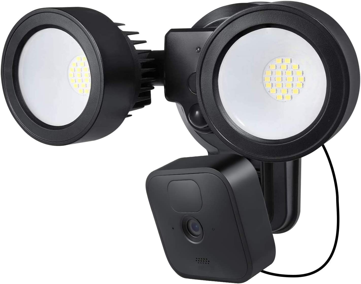 Wasserstein 3-in-1 Floodlight, Charger and Mount Compatible with Blink Outdoor & Blink XT2/XT Camera - Turn Your Blink Camera into a Powerful Floodlight (Black) (Blink Camera NOT Included)