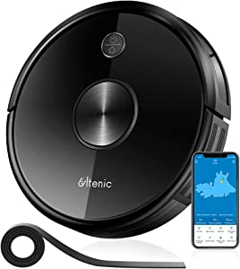 Ultenic D5 Robot Vacuum Cleaner, WiFi Connectivity, Alexa Control, Smart Mapping, Auto Carpet Boost, 2200Pa Max Suction, 600ML Large Dustbox, Self-Charging, for Pet Hairs, Hard Floors and Carpets