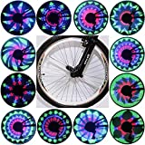 Cheap QANGEL Bicycle Spoke Light Waterproof 36 LED Lights Display Bright 32 Patterns Full Bike Wheel Change