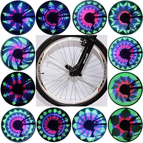 Light Waterproof 36 LED Lights Display Bright 32 Patterns Full Bike Wheel Change ()
