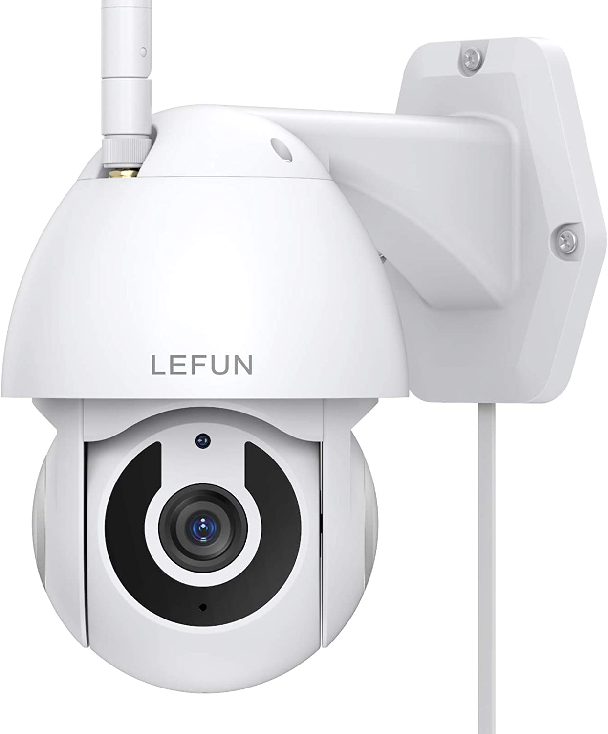 Security Camera Outdoor, Lefun Pan/Tilt 2.4G WiFi Home Surveillance Camera, 1080P IP Camera with Waterproof Night Vision 2-Way Audio Motion Detection Cloud Service, Compatible with Alexa