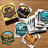 Anderson Design Group's new die-cut emblem sticker set is amazing. It features 59 high-quality vinyl stickers-one for each of the 59 American National Parks! Stick them on your camper, cooler, luggage, or locker to show off highlights of your travels...