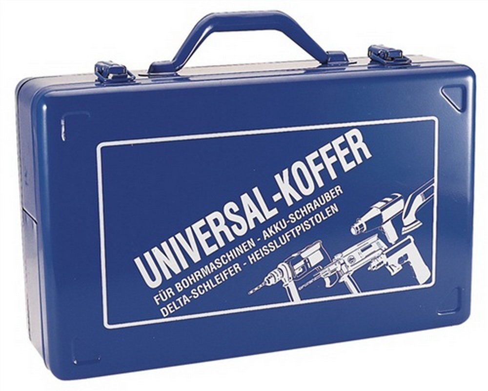 Bandschleiferkoffer blau 430x280x185mm m.Schaumstoffeinlage Stahlblech NORDWEST 9980 BLAU