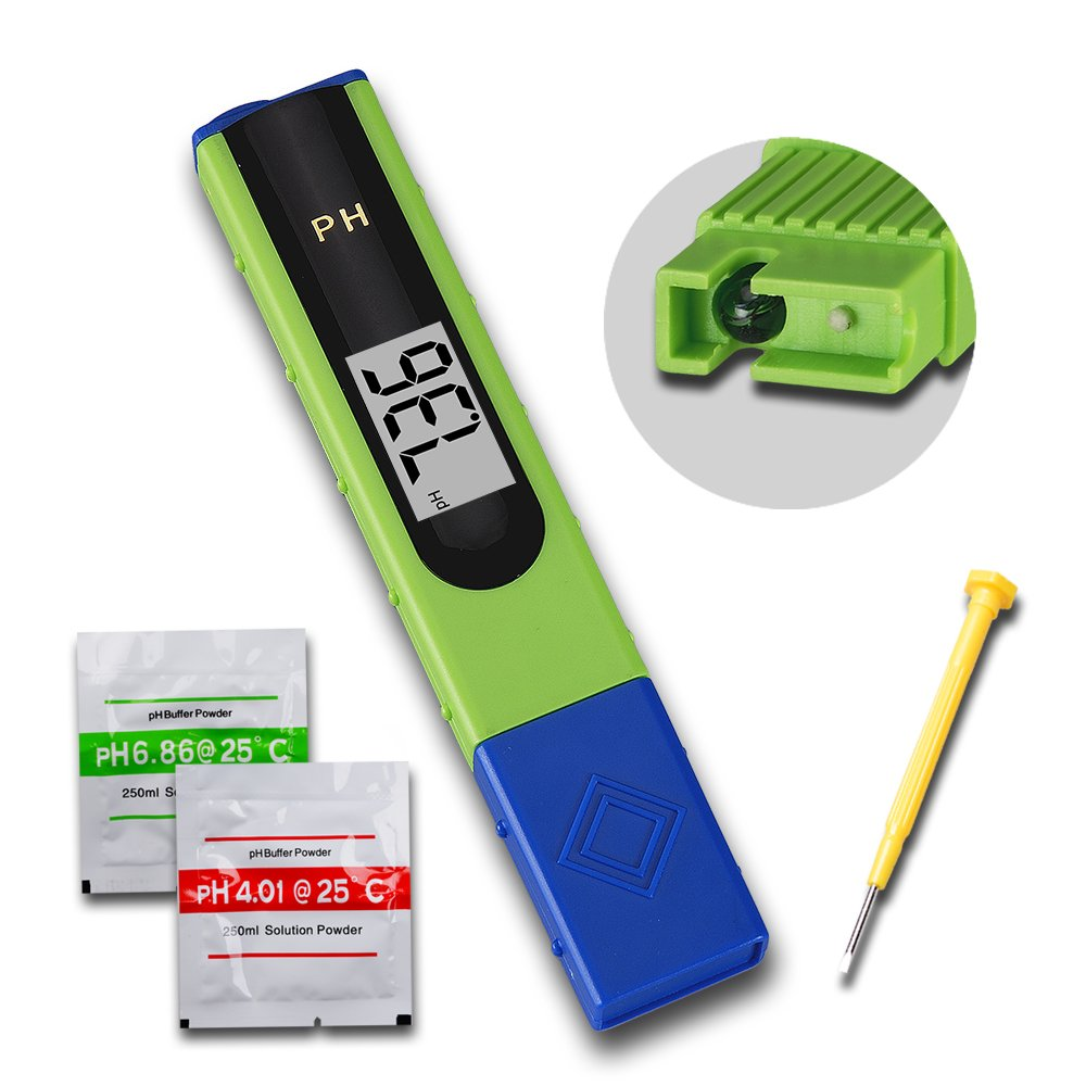 Rise Digital Pen-type pH Meter Water Tester pH-061 Hydroponic Spa ATC for Pool Aquarium