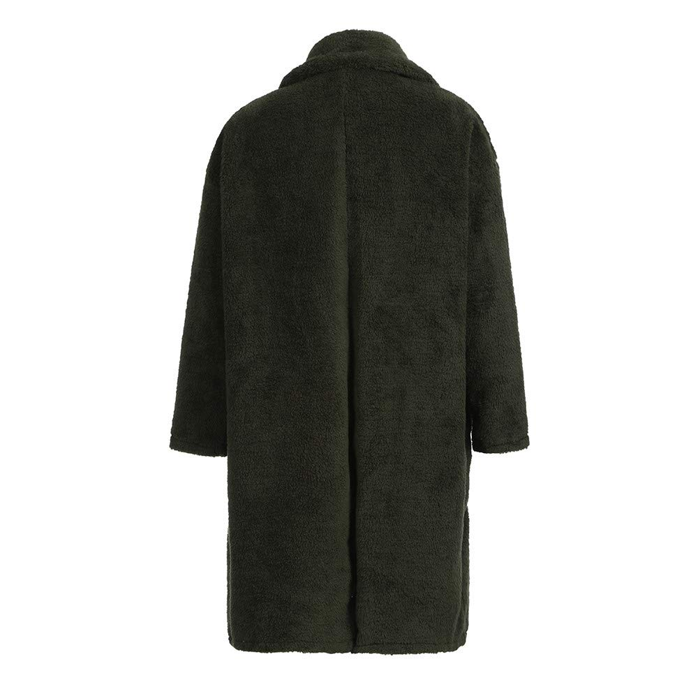 FTXJ Fashion Men Loose Warm Plush Cardigan Long Furry Double-Sided Coat Tops Blouses by FTXJ_mens coats (Image #7)