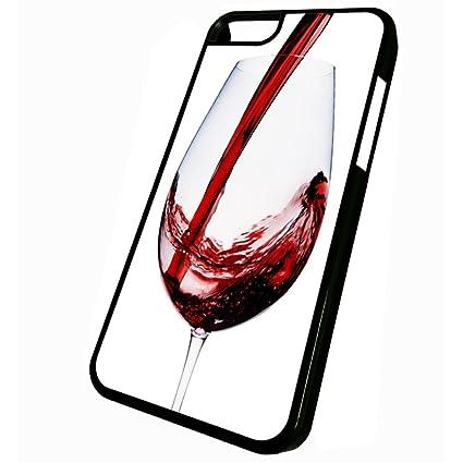 Amazon.com: Vino vidrio – iPhone 5 C Funda, Estuche negro ...