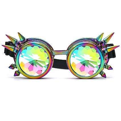 Gafas de sol Aolvo Kaleidoscopio Steampunk Rave Difracción ...