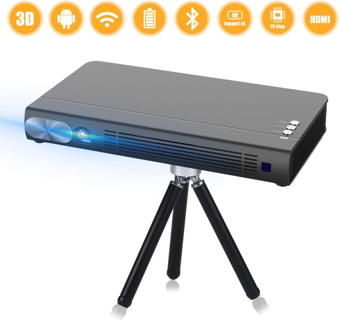 Mini Proyector T5 2019 Nueva Android 6.0 Portátil Videoproyector ...