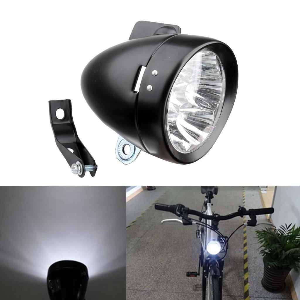 FLAMEER Vintage Bike Cycling Faro Delantero Luz 7 LED Bicicleta L/ámpara con Soporte