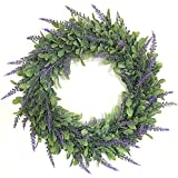 Zehui Lifelike Artificial Wreath Flowers Door Hanging Wall Window Decoration Wedding Party Christmas Decor With Flour Outer Diameter 40CM