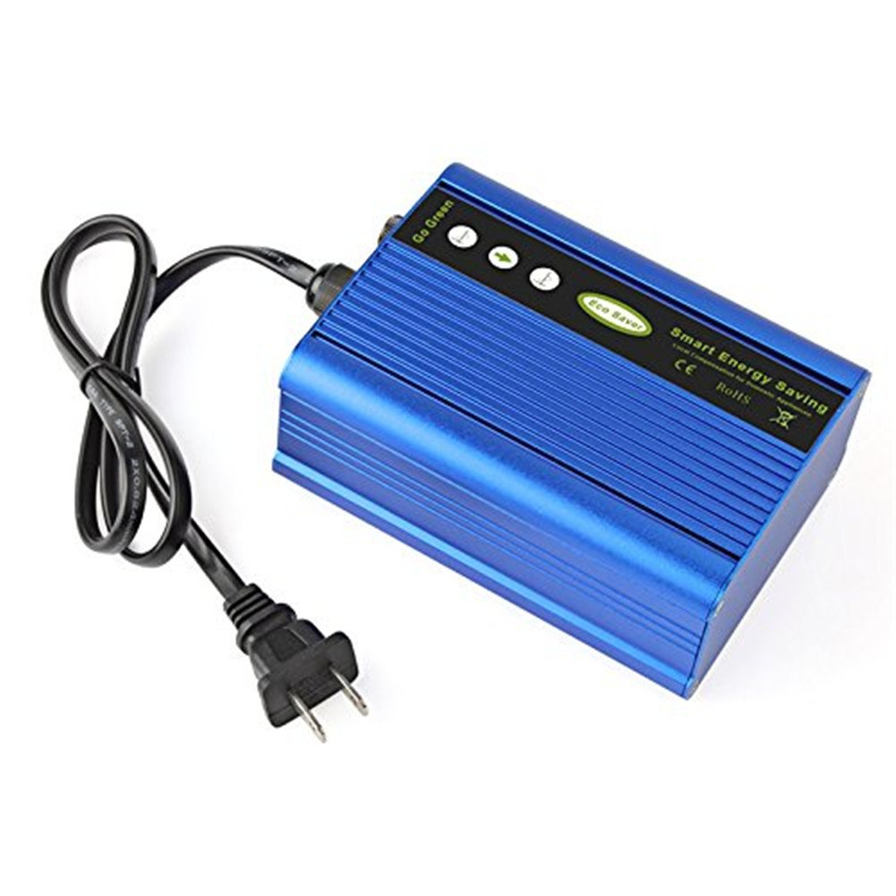 50KW Power Energy Saver Saving Box, Electricity Bill Killer Up to 35% US Plug Blue Electrical Meter Sockets (Blue)