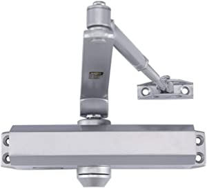 Medium Duty Designer Commercial Door Closer - LYNN Hardware DC6003 (US26D Aluminum) Surface Mounted, Cast Aluminum - UL 3 Hour Fire Rated, Size 3 for Residential and Light Commercial Doors