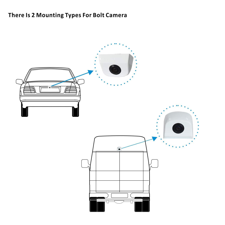 Cocar Auto Loch Bohrung R/ückfahrkamera 22.5mm Sicherungskopie Kamera Nocken Schrauben Sto/ßf/änger Montage Fit Universal Parkplatz Unterst/ützung Gitterlinien
