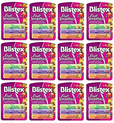 Blistex Fruit Smoothies, 0.10-Ounce Tubes in 3-Count Package