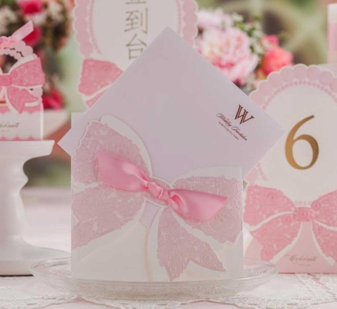 VStoy invitaciones de boda Tarjetas Rosa Compromiso - Invitaciones ...