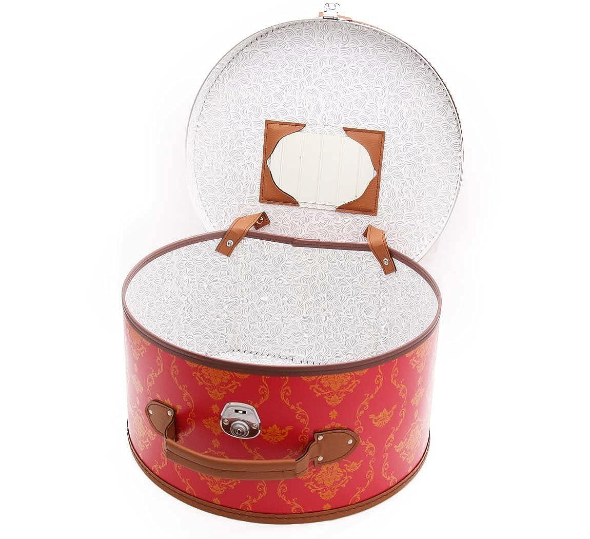 Wegener Bo/îte /à Chapeaux R/étro Leather Hat