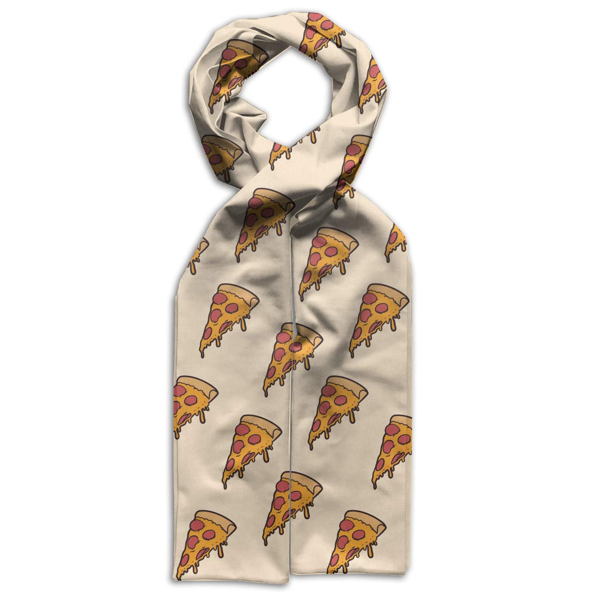 Delicious Pizza Pattern Kids Printed Scarf Soft Winter Infinity Scarf Warmer Travel Scarf For Kids Perfect Birthday Gift