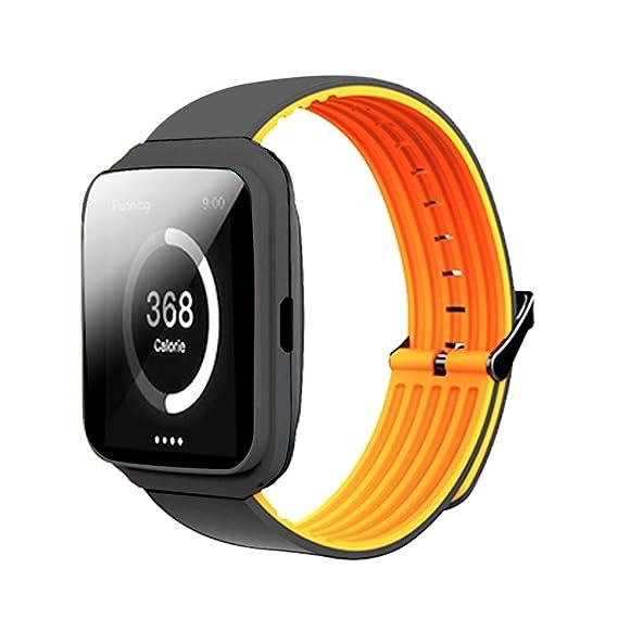 Reloj inteligente con pulsera Bluetooth M40, unisex con Bluetooth, monitor de frecuencia cardíaca para llamadas y fitness, reloj de pulsera inteligente ...