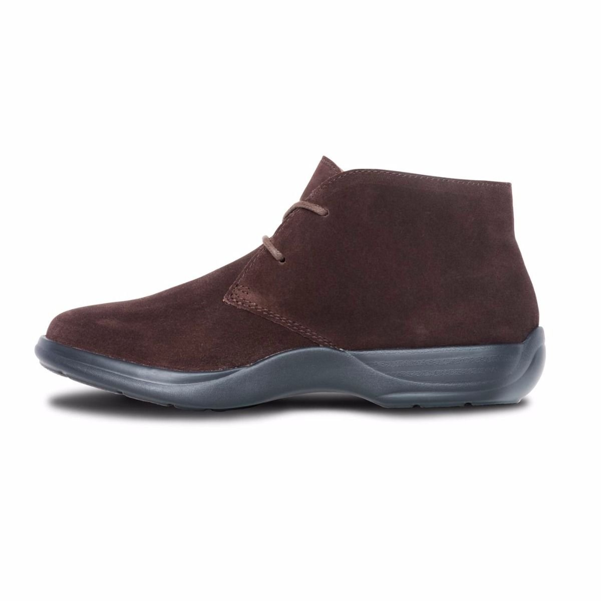Dr. Comfort Women's Cara Casual Suede Leather Bootie Chukka Boot Brown B074ZSTB92 7 B(M) US|Brown