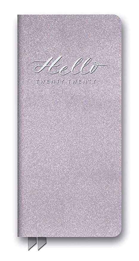 Orange Circle Studio 2020 Leatheresque Jotter Agenda, August 2019 - December 2020, Hello Lilac Shimmer