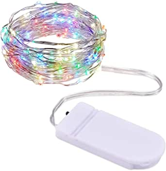 3M 30 Led Lights String Lights Fairy Lights Starry Battery Operated Copper Wire Decoration Light Multi Color