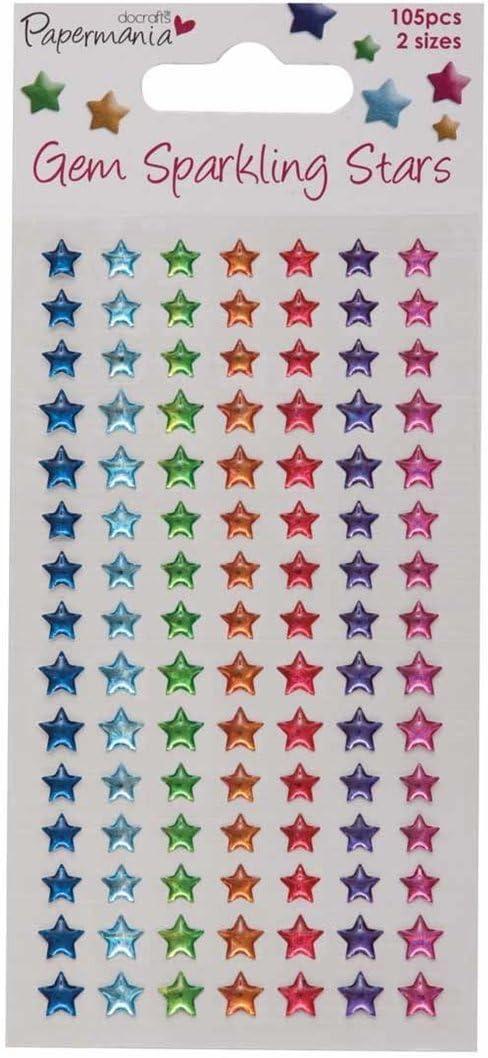Brights docrafts Piedras Brillantes 105/Unidades dise/ño de Estrellas