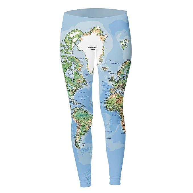 World Map Leggings: Amazon.ca: Clothing & Accessories