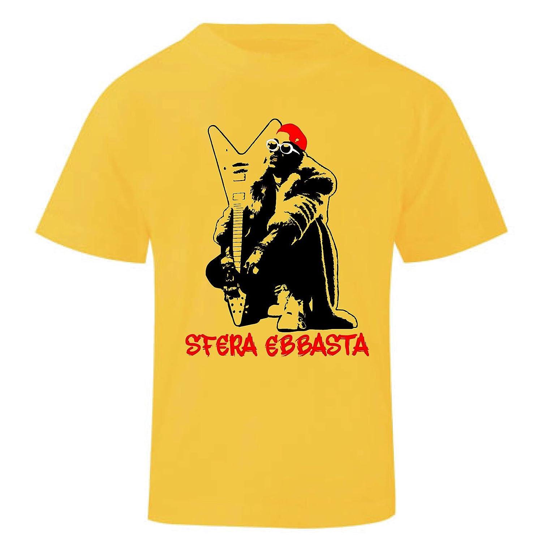 Art T-shirt Maglietta Sfera Ebbasta Bambino