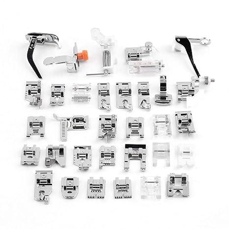 32Pcs Kit de pies prensatelas máquina de coser accesorios pie diferente para máquina de coser