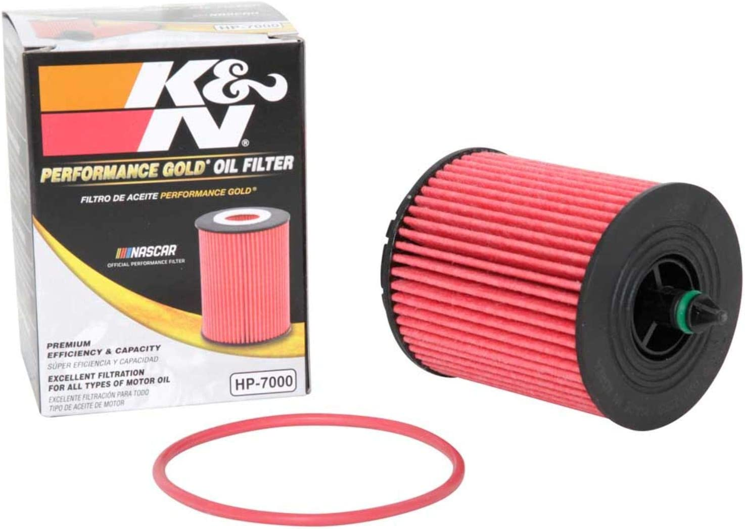 K&N Premium Oil Filter: Designed to Protect your Engine: Fits Select BUICK/CHEVROLET/POLARIS/SAAB Vehicle Models (See Product Description for Full List of Compatible Vehicles), HP-7000