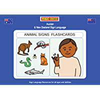 ANIMAL SIGNS FLASHCARDS: Auslan & New Zealand Sign Language (Let's Sign)