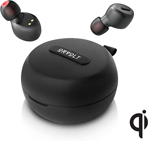 True Wireless in-Ear Headphones with Wireless Charging Case and 5W Qi Charging Pad. ORvolt X8 Features Bluetooth 5.0 IP68 Waterproof Rating 25H Playtime 3D Stereo Sound and Deep Bass.