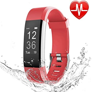 LETSCOM Fitness Tracker HR, Activity Tracker with Heart Rate Monitor Watch, IP67 Waterproof Smart