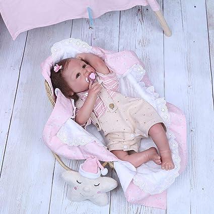 Amazon.com: NPKPINK Muñeca de niña recién nacida de 19 ...