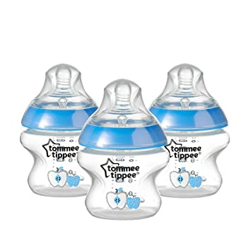 Tommee Tippee Closer To Nature Decorated Bottle 3pk 5oz Boys