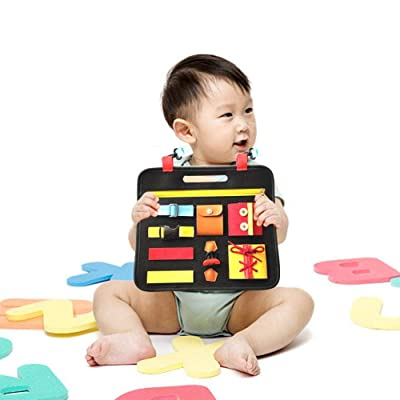 Toddler Busy Felt Board Montessori Toys Basic Skills Activity Learn To Dress Educational Learning Toy Travel Toy Educational Activities And Fine Motor Skills Activity Toy For 1 2 3 4 Year Old Toddlers : Baby