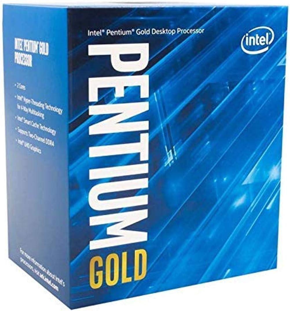 Intel Pentium Gold G-6400 Desktop Processor 2 Cores 4.0 GHz LGA1200 (Intel 400 Series chipset) 58W