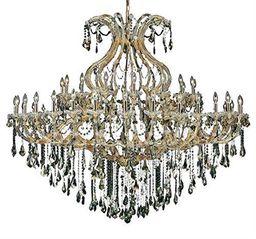 Karla Gold Traditional 49-Light Grand Chandelier Heirloom Handcut Crystal in Golden Teak -2381G72G-GT-RC--48