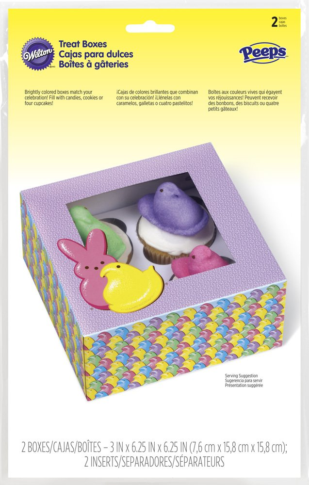 Amazon.com: Wilton 2 Count 415-2366 Peeps Treat Boxes, Multicolor: Kitchen & Dining