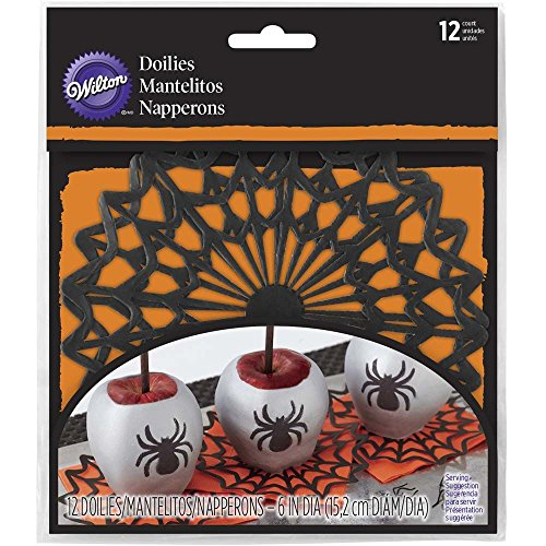 Wilton 6 in. Spider Web Paper Doilies (Halloween Treats Using Apples)