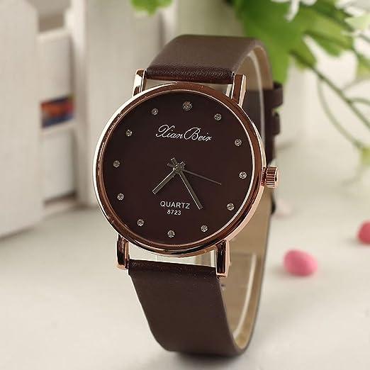 Amazon.com: Dressin Womens Quartz Watch, Diamond Fashion Casual Fashion Analog Waterproof Leather Band Wrist Watch (Black): Clothing